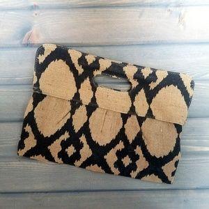 The Royal Standard | Burlap Geometric Clutch Bag